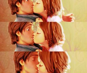 cartoon, kiss, and rapunzel image