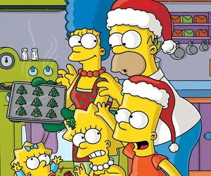 christmas, simpsons, and the simpsons image