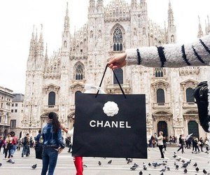 chanel, milan, and shopping image