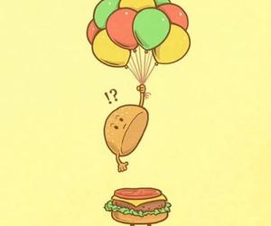 funny and hamburger image