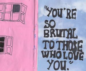 quotes, love, and brutal image
