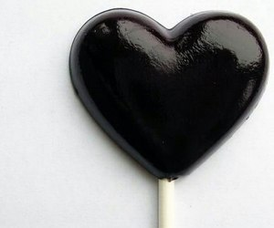 black, heart, and love image