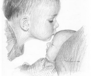 drawing, baby, and draw image