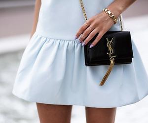 fashion, dress, and YSL image