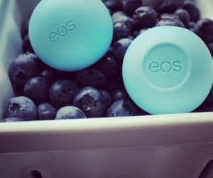 blueberry, eos, and lips image