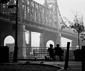 bridge, couple, and black and white image