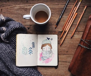 art, book, and doodle image