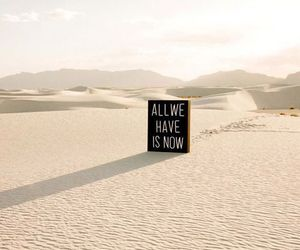 quote, desert, and now image