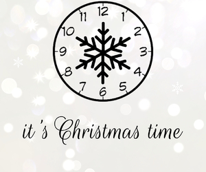 bokeh, christmas, and clock image