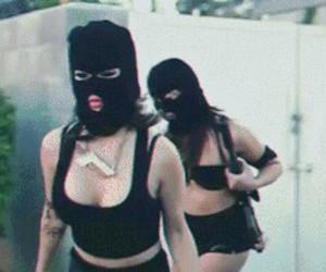 girl, gangsta, and gun image
