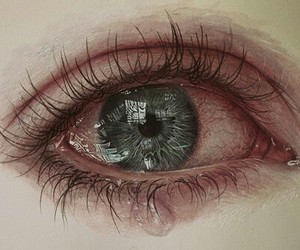 eye, eyes, and sad image