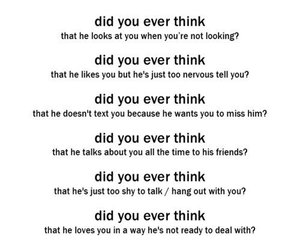 think, you and i, and love image
