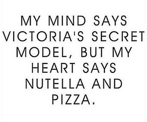 pizza, nutella, and model image