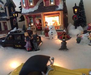 christmas, snow, and village image