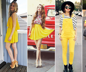amarelo, look, and style image
