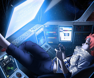 anime, game, and space image