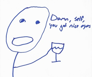 wine, funny, and romantic image