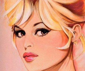 art, blonde, and girly image