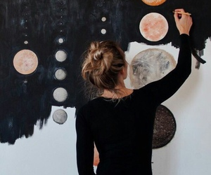 art, hipsters, and planets image
