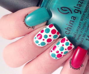 blue, colors, and nail image