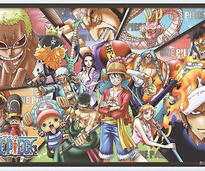 one piece, rebecca, and monkey d. luffy image