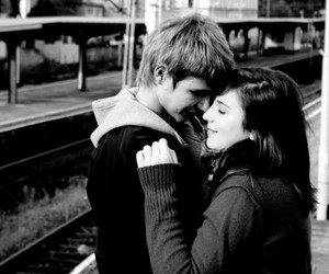 black and white, casal, and cute image