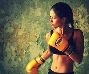 boxing, Adriana Lima, and sport image