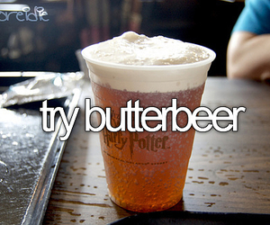 harry potter, before i die, and butterbeer image