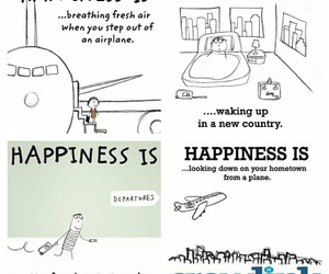 airplane, happiness, and travel image