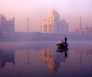 india, taj mahal, and nature image