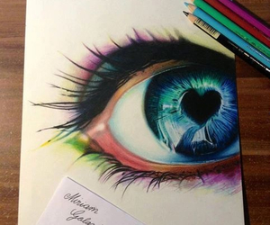 blue, eyes, and colorful image
