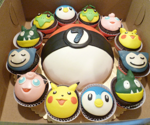 cake, cupcakes, and snorlax image