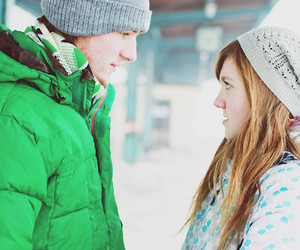 boy and girl, cute, and casal image