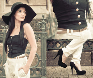 corset, fashion, and hat image