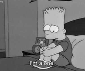 alone, bart, and black image