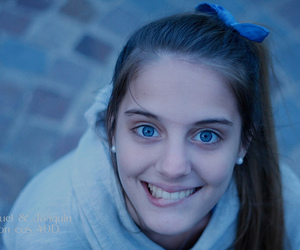 blonde, blue eyes, and Canon 40D image