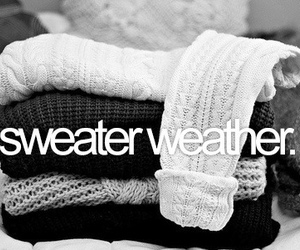 black and white, sweaters, and cold image