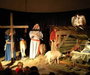 christmas eve, christmas, and nativity scenes image