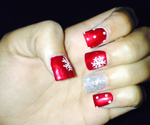 christmas and nails cute image