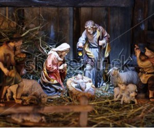 christmas, nativity scenes, and christmas eve image
