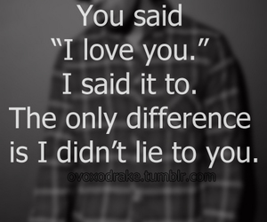 love, I Love You, and lie image