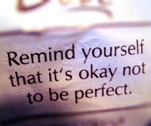 awesome, not perfect, and quotes image