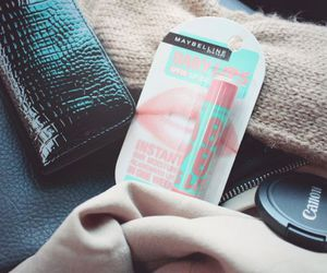 canon, lipbalm, and Maybelline image