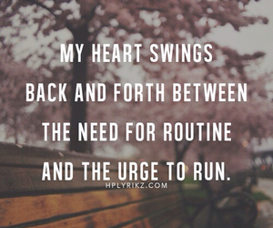 heart, quotes, and run image