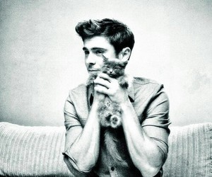 zac efron, cute, and cat image