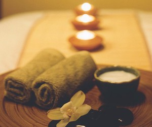 candle, relax, and spa image