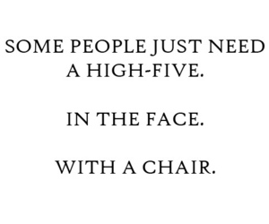quote, chair, and face image
