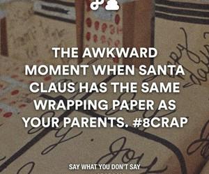 awkward, christmas, and santa image