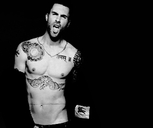 black and white, sexy, and maroon 5 image