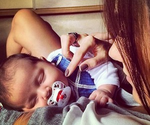 baby, boy, and mom image